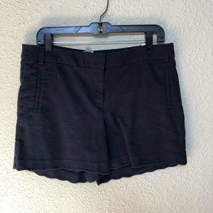 Scalloped Navy Shorts